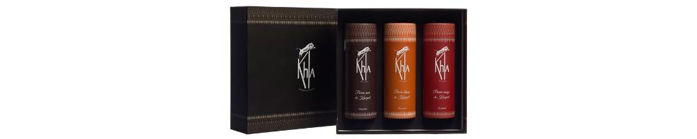 Coffrets poivres Kampot et du monde - KHLA, épicerie fine