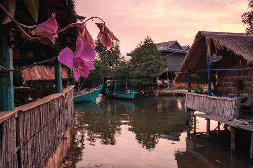 delta de la rivière de Kampot