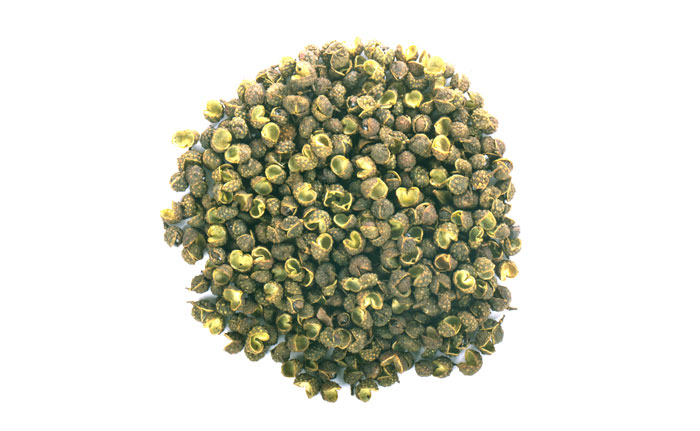 grains de poivre vert