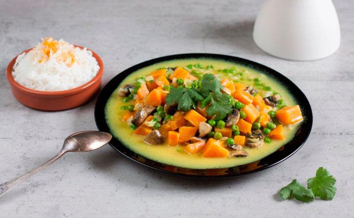 plats à base de légumes et riz